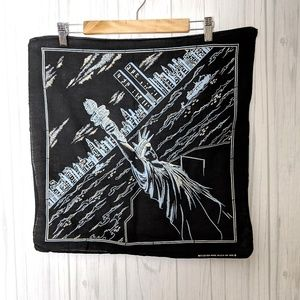 Vintage Statue of Liberty Square Cotton Scarf